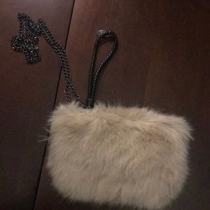 Handbags - Fur clutch